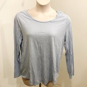 LOFT Size XL Tee Vintage Soft Solid Blue Cotton